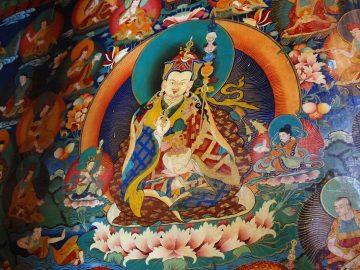 13 Rongbuk Monastery Main Chapel Wall Painting Of Padmasambhava Guru Rinpoche