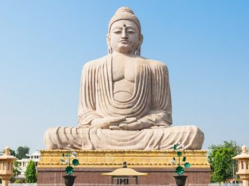 Great Buddha Statue near Mahabodhi Temple in Bodh Gaia, Bihar state of India